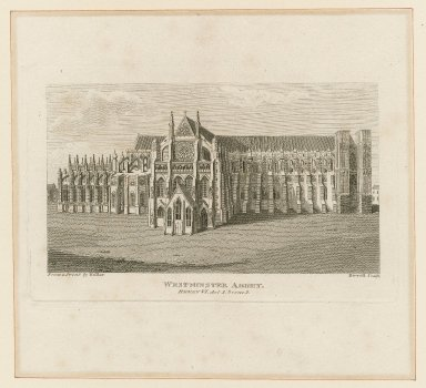 Westminster Abbey, Henry VI, act I, scene 1 [graphic] / from a print by Hollar ; Birrell, sculp.