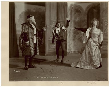 The taming of the shrew [5 photographs of a production starring Jefferson Winter as Petruchio and Elsie Leslie as Katherine] [graphic] / Byron, N.Y.