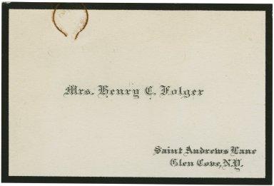 Emily Folger's mourning card