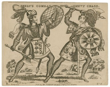 Skelt's combat in [Henry M. Milner's] Chevy Chase: Earl Percy [and] Earl Douglas [graphic].