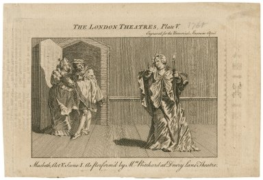 Macbeth, act V, scene I, as perform'd by Mrs. Pritchard at Drury Lane Theatre [graphic].