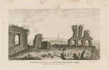 Sandal Castle, near Wakefield Yorkshire, Henry VI, part III, act I, scene II [graphic] / Sparrow, sc.