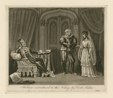 Helena introduced to the King by Lord Lefeu [All's well that ends well, act II , scene 1] [graphic].