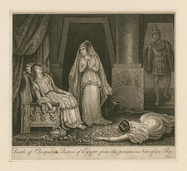 Death of Cleopatra, Queen of Egypt from the poisonous bite of an Asp [Antony and Cleopatra, act V, scene 2] [graphic].