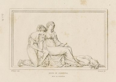Death of Cleopatra ... [Antony and Cleopatra: act V, scene 2] [graphic] / Mrs. Damer ; sculp. Normand fils.