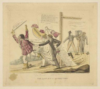 The last act of Richard Third [graphic] / drawn and engraved by Gebolibus Crackfardi [i.e. David Claypoole Johnston]