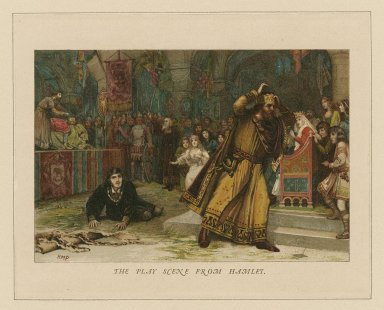 The play scene from Hamlet [act III, scene 2] [graphic] / H.M.P.