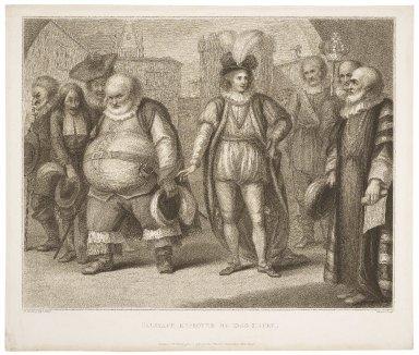 Falstaff reproved by King Henry ... 2nd part Henry IV, act V, sc. 8 [i.e. 5] ... [graphic] / H. Bunbury esqr., delint. ; Shenner, sculpt.