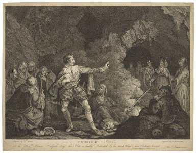 Macbeth act IV, scene 1st [graphic] / painted by P. Dawes ; engrav'd by A. Bannerman.