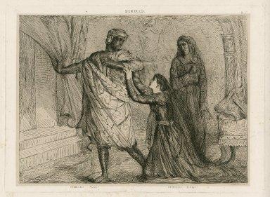 Othello, away! Othello, [act IV, sc. 2.] [graphic] / Th. Chassériau, inv. et sc.