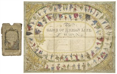 Wallis's fashionable game of the seven ages of human life [graphic].
