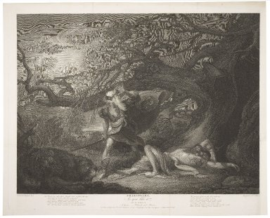 As you like it, act IV, scene III, a forest--Orlando and Oliver [graphic] / Raphael West ; engraved by. W.C. Wilson.