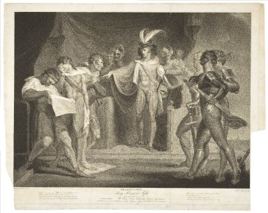 ... King Henry the Fifth act II, scene II, Southampton ... [graphic] / painted by H. Fuseli ; engraved by Robt. Thew.