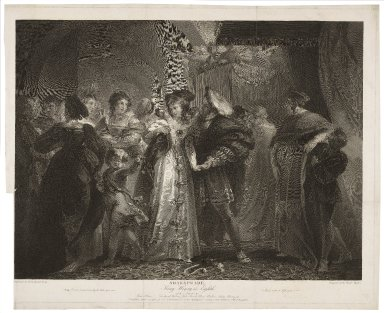 King Henry the Eighth, act I, scene IV, York Place [graphic] / painted by T. Stothard ; engraved by Isaac Taylor.