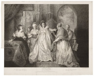 King Henry the eighth, act III, scene 1, A room in the queen's apartments ... [graphic] / painted by the Revd. Willm. Peters ; engraved by Robert Thew.