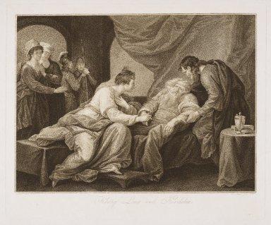 König Lear und Kordelia [IV, 7] [graphic] / Benjamin West pinx. ; D. Berger sculp.