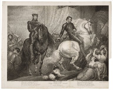 King Richard the Second, act V, scene II: Richard, Bolingbroke, &c. ... [graphic] / painted by J. Northcote ; engraved by R. Thew.