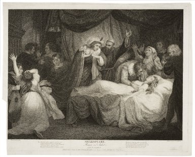 Romeo and Juliet, act IV, scene V ... [graphic] / painted by John Opie ; engraved by G.S. & I.G. Facius.