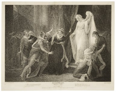 ...Winter's tale, act V, scene III, Leo.: What fine chisel could ever yet cut breath... [graphic] / painted by Wm. Hamilton ; engrav'd by Robt. Thew.