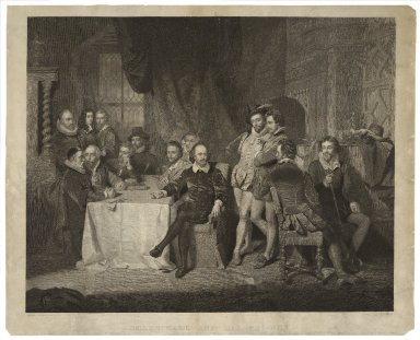Shakspeare and his friends [graphic] / Painted by John Faed, R.S.A. ; engraved by James Faed.