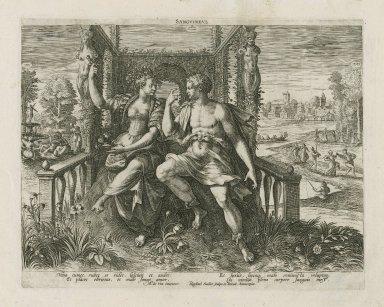 Sanguineus [graphic] / M. de Vos inuentor ; Raphael Sadler scalps. [sic] et excud.