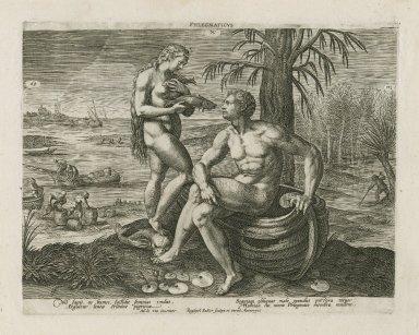 Phlegmaticus [graphic] / M. de Vos inuentor ; Raphael Sadler scalps. [sic] et excud.