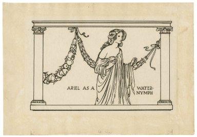 Ariel as a water-nymph [graphic] / [Robert Anning Bell].