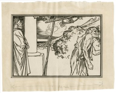 [Illustration to act 1, scene 2 of the Tempest, Prospero and Caliban] [graphic] / [Robert Anning Bell].