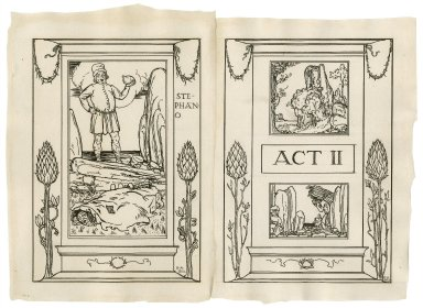 [Frontispiece and title page to act 2 of The tempest] [graphic] / R.A. Bell.