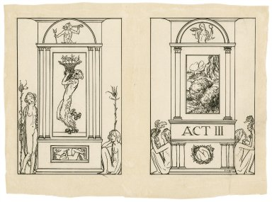 [Designs for frontispiece and title page to act 3 of The tempest] [graphic] / R.A. Bell.