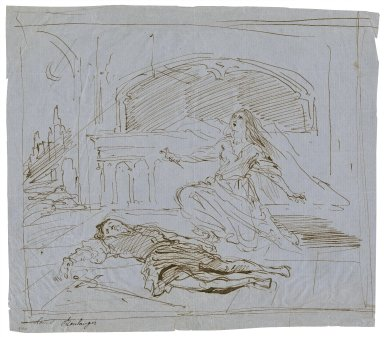 Romeo and Juliet, tomb scene, V, 3 [graphic] / [Louis Boulanger].