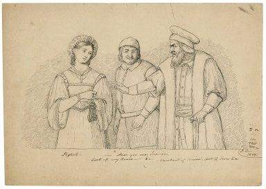 "Merchant of Venice, II, 5, Shylock: ""Hear you me, Jessica, lock up my doors ..."" [graphic] / J.C."