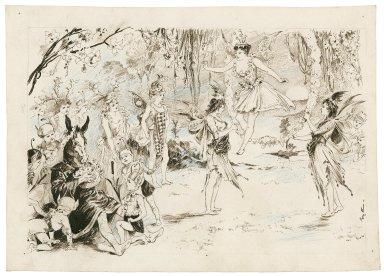 [Midsummer night's dream, act III, sc. 1, Bottom, Titania and the fairies] [graphic] / Phil E[bbutt].