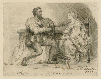 Othello, V, 8 [i.e. 2, Othello, Emilia, Iago, and others] [graphic] / L. Frølich.