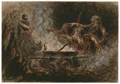 Macbeth, IV, 3, the witches cauldron [graphic] / F. Gilbert.