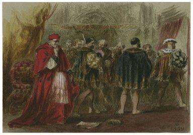 [King Henry VIII, III, 2, dismissal of Cardinal Wolsey] [graphic] / FG.