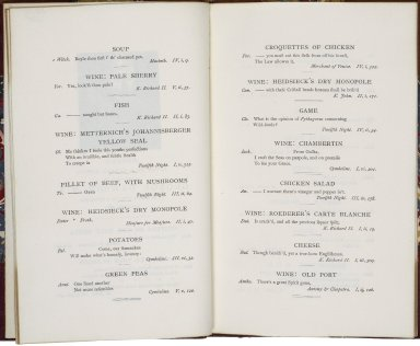 Dinner given by J. Parker Norris in honor of George Dawson on the occasion of his visit to Philadelphia, November, 1874.