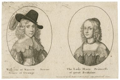 William of Nassau, borne Prince of Orange [and] the Lady Mary, Princesse of Great Brittaine [graphic] / W. Hollar fecit, 1641.