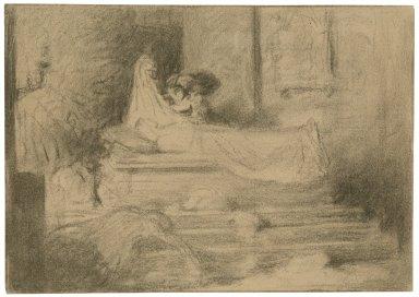 Romeo and Juliet, V, 3, the tomb scene [graphic] / [Daniel Maclise].