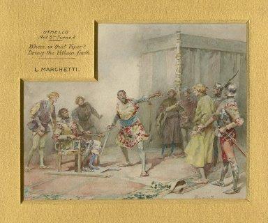 """Othello, act 5, scene 2, """"Where is that viper? Bring the villain forth"""" [graphic] / L. Marchetti."""