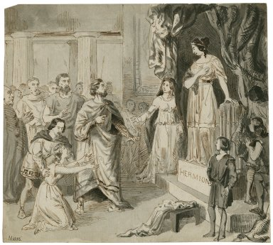 Winter's Tale, Leontes, Hermione, Pauline, etc. [graphic] / Henry Stacy Marks.