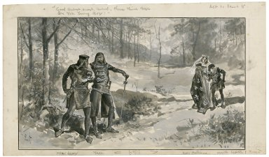 "[King John, I, 5:] ""Good Hubert, Hubert, Hubert, throw thine eye on you[r] young boy"" [graphic] / O.P."