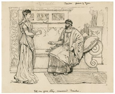 Pericles, Prince of Tyre. Tell me your story, answered Pericles [graphic] / [Louis Rhead].