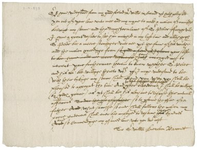 Letter from Walter Bagot to Sir William Kniveton (Kneveton), bart
