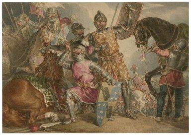 [King Henry VI, part III, act II, scene III, Warwick, Edward, and Richard at the Battle of Towton] [graphic].
