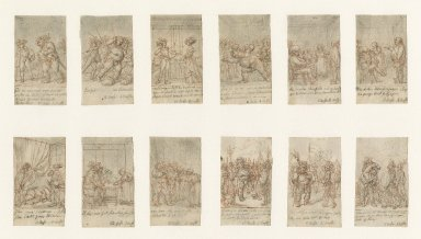 [King Henry IV, part 1, twelve small illustrations mounted on one mat] [graphic] / [Daniel Nicolaus Chodowiecki].