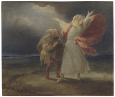 King Lear, III, 2, Lear and the Fool [graphic] / [Ary Scheffer].