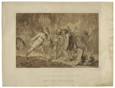 "A midsummer night's dream, Quince ""Bless thee, Bottom ..."" [III,1] [graphic] / [Alfred Edward Chalon]."