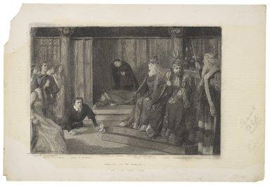 Hamlet at the Adelphi, the play scene, act III, [sc. 2] [graphic] / Balliol Salmon, '05.
