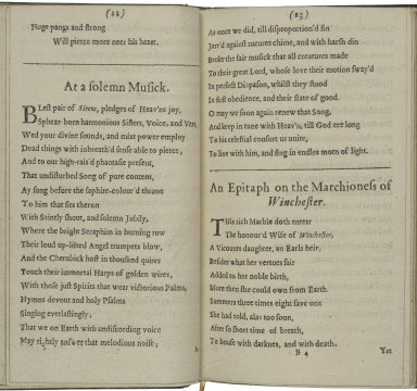 [Poems. Selections] Poems of Mr. John Milton, both English and Latin, compos'd at several times.